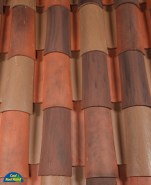Classic Tapered 2-piece mission clay roof tile, CB417-SC Casa Antigua Blend