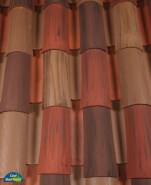 Classic Tapered 2-piece mission clay roof tile, CB419-SC Adobe Antigua Blend
