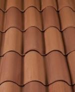 Classic S Mission clay roof tile, CB360-SC Café Mocca Blend.