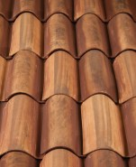 Classic S Mission clay roof tile, F4645-SSC Tuscan Gold Blend.