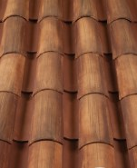 Corona Tapered two piece clay roof tile, F4645-SSC Tuscan Gold Blend.