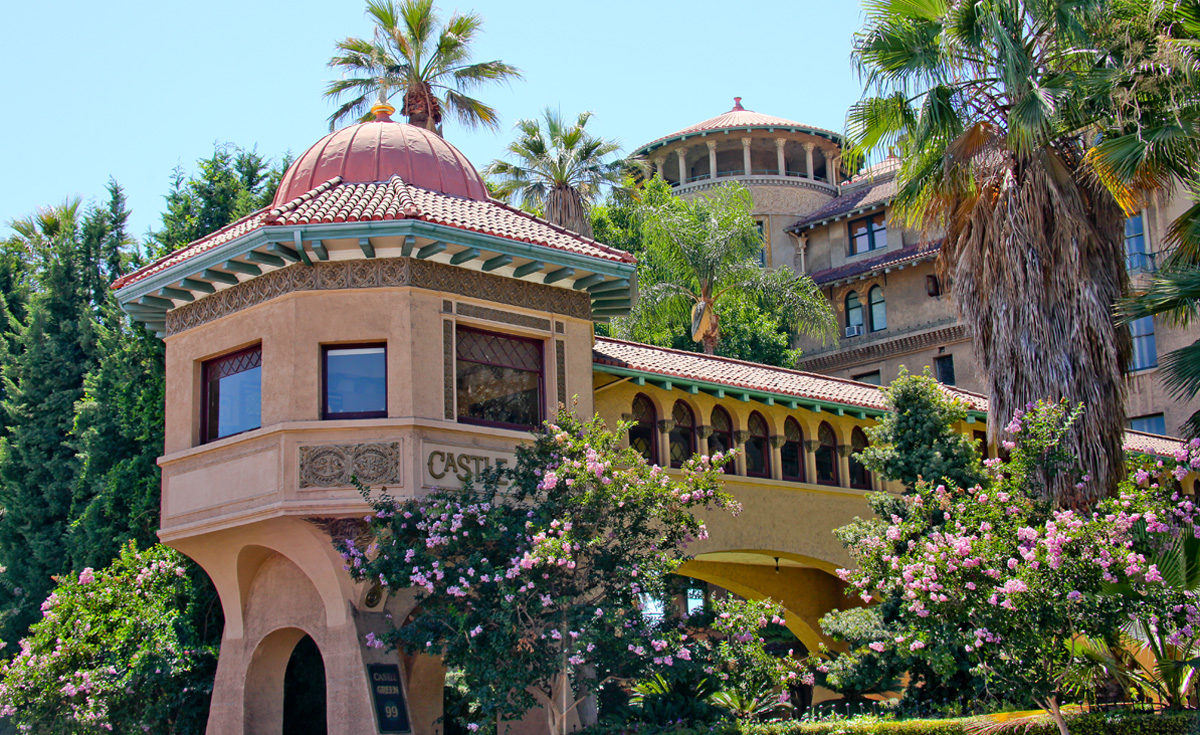 Castle Green historical clay roof tile in Pasadena, CA - custom tiles for restoration