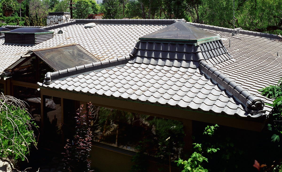 Detail of Re-roof, Encino, CA C09 Japanese Black