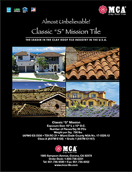 Download MCA Clay Roof Tile Classic S Mission catalog.