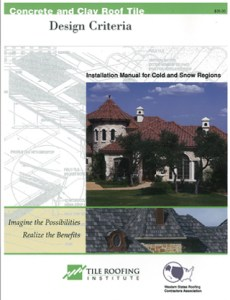 Download TRI Cold and Snow Installation Manual - Tile Roofing Institute