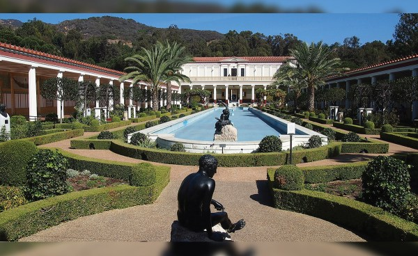 The Getty Villa Museum Outer Peristyle in Pacific Palisades - custom ridge and Roman Pans to match for restoration project.