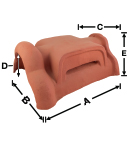 LUVC-206 Ridge Air Vent of LU206 historical clay roof tile