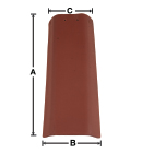 RG07 U-Shape Top and Pan historical clay roof tile