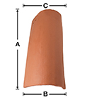 SB04 Old LA Brick Baby S Left Gable historical clay roof tile