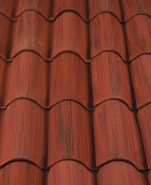 "Classic ""S"" Mission clay roof tile, 2F43-MSC Villa Rosso Blend."