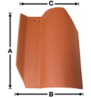 Old LA Brick S LASP historical clay roof tile