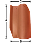 "Lanai ""S"" SD01 historical clay roof tile"