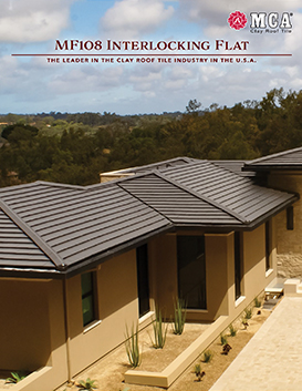 MF108 Interlocking Flat clay roof tile catalog pdf