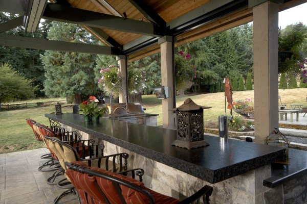 covered outdoor living space Large Covered Outdoor Living Space Remodel - McAdams