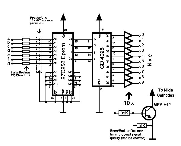 7-Segment To Nixie Decoder
