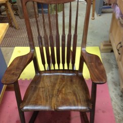 Rocking Chair Fine Woodworking Stacking Cafe Chairs  Mcanulty Furniture Carvings