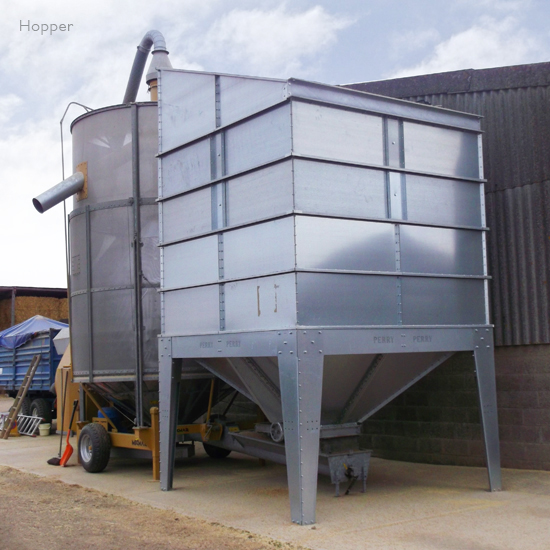 Large Grain Hopper Bins