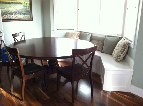 Bay Window Nook Bench Seating for Kitchen