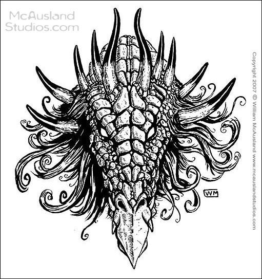 Dragon Head Ornament by William McAusland,RPG Art