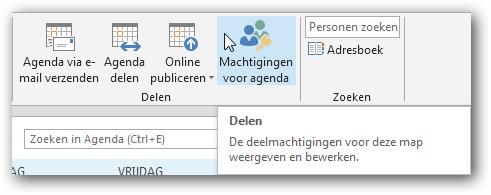 Outlook agenda delen met externen