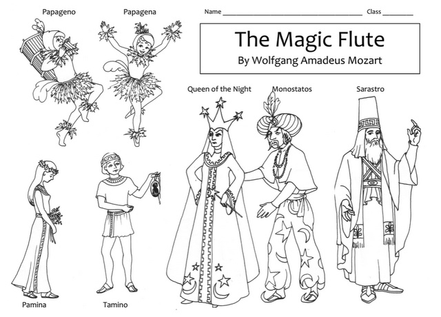 Magic Flute Opera Coloring Page Coloring Pages