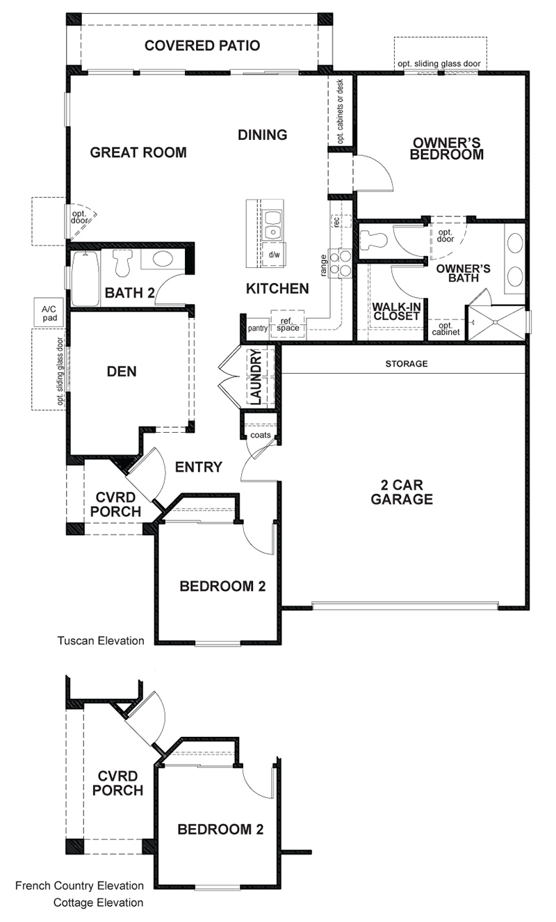 Auburn a 3 bedroom 2 bath home in The Gallery. A New Home
