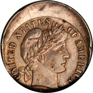 Barber off-center coin