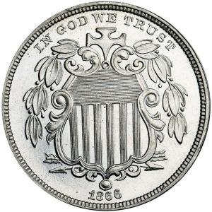 1866 Shield Nickel coin