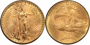 1927D $20 Gold Coin