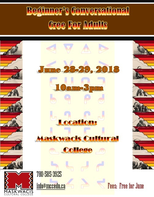Beginners' coversational Cree | Maskwacis Cultural College