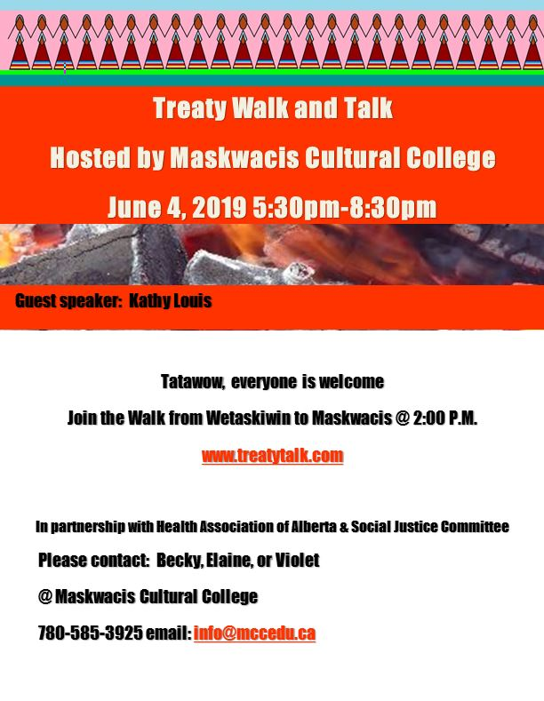 Treaty Walk and Talk may 8 2019 | Maskwacis Cultural College