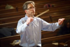 Paul Rardin conducts Beginnings... rehearsal 10/2015 Photo: Sharon Torello