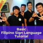 Basic Filipino Sign Language Tutorial Poster
