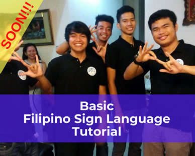 Basic Filipino Sign Language Tutorial Poster