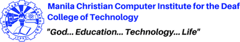 MCCID College Logo with Slogan God, Education, Technology, Life