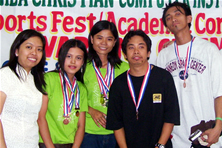 Ma'am Marinela pose together with PC Assembly winners.