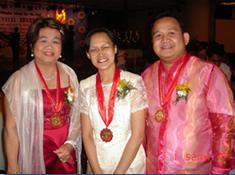 From Left, Ma'am Carol Cordero-Bie, Ma'am Teresa Buenaventura and Sir Ervin Reyes