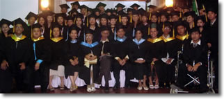 Batch 2008 Graduates together with Faculty