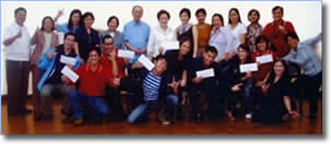 Participants display their envelopes containing cash rewards pose their wacky shot together with NCDA, TESDA, DSWD and Gokongwei Bros. officials led by NCDA Chairperson Rosie Lovely Romulo.