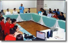 TESDA representative gives inspirational talk.