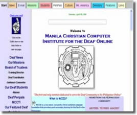 First website for the deaf in the Philippines.