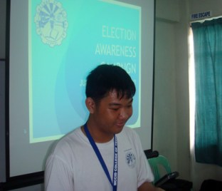 Deaf Student Omar Emata shared his experience voting in last May 2010 elections.