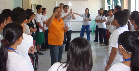 Master Bennet teaches deaf students.