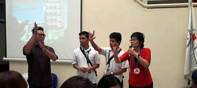 MCCID students taught basic sign language to the guests.