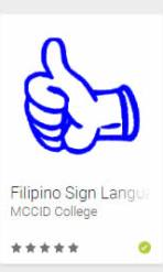 MCCID Filipino Sign Language App Logo