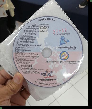 FSL Bible Translation DVD on hand