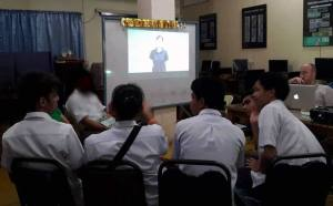 MCCID students view the FSL BT Video.