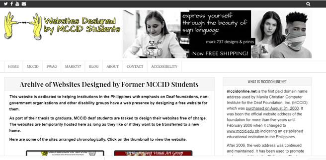 Redesigned mccidonline.net website front