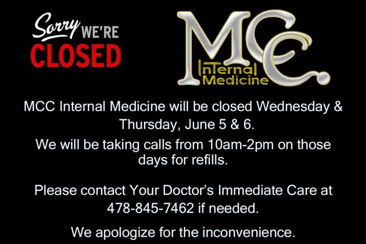 Office Closed June 5-6, 2019