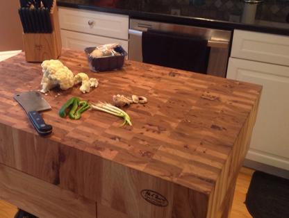 kitchen furniture sets carnage mcclure block | hardwood countertops butcher